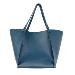Neiman Marcus Leather Trapezoid Tote
